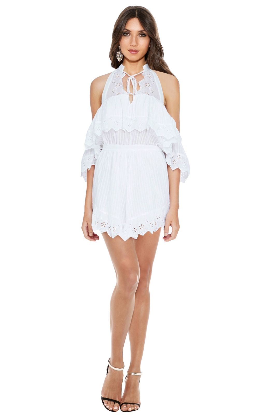 Alice McCall - White Room Playsuit - White - Front