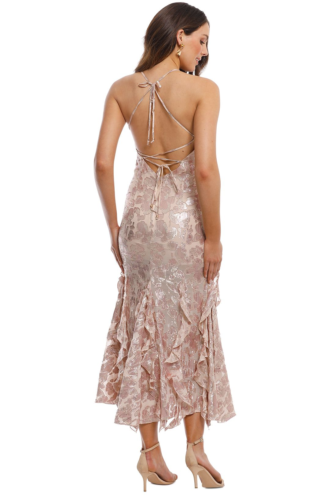 Alice McCall - Best of You Dress - Champagne - Back