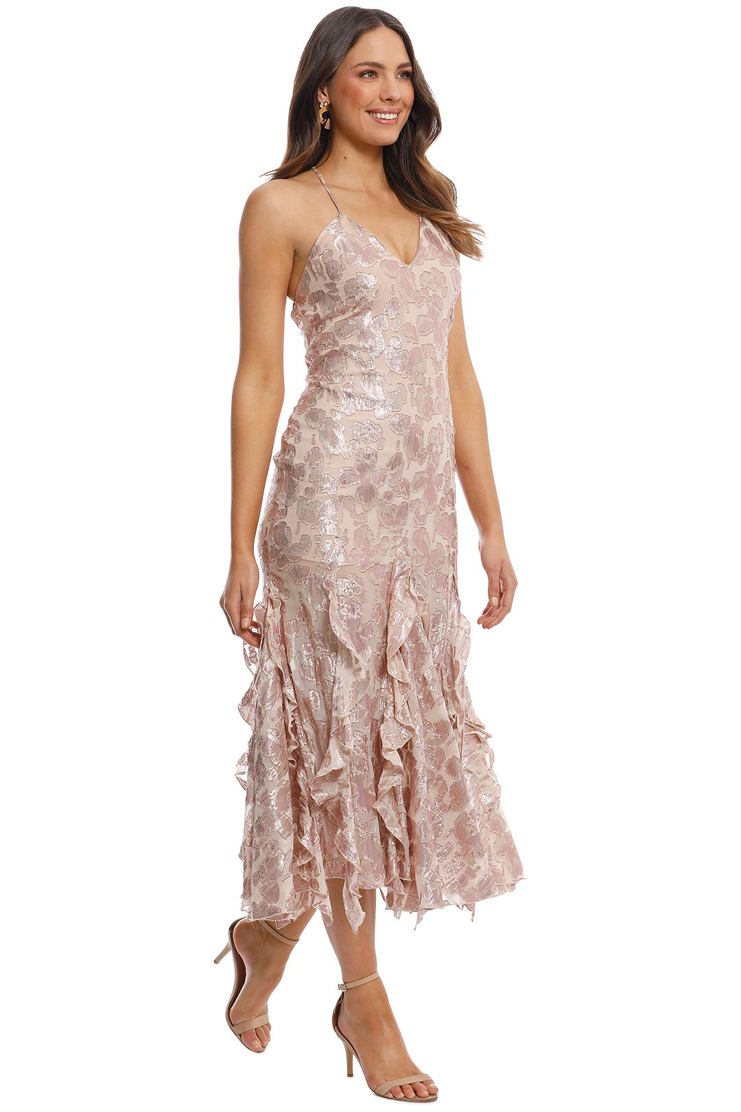 Alice McCall - Best of You Dress - Champagne - Side