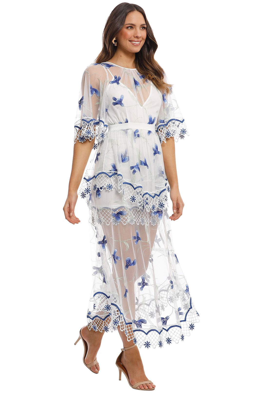 Alice McCall - Marigold Dress - Porcelain Sugarplum - Side