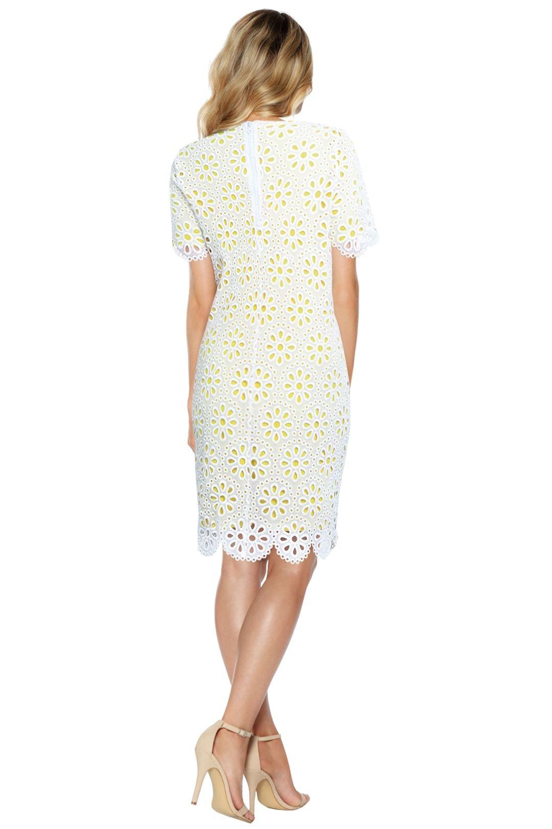 Anna Scholz - Daisy Lace Tunic Dress - White - Back