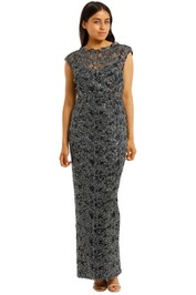 Anthea-Crawford-Midnight-Sequin-Lace-Gown-Front