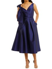 Anthea-Crawford-Regal-Twill-Bow-Dress-Front
