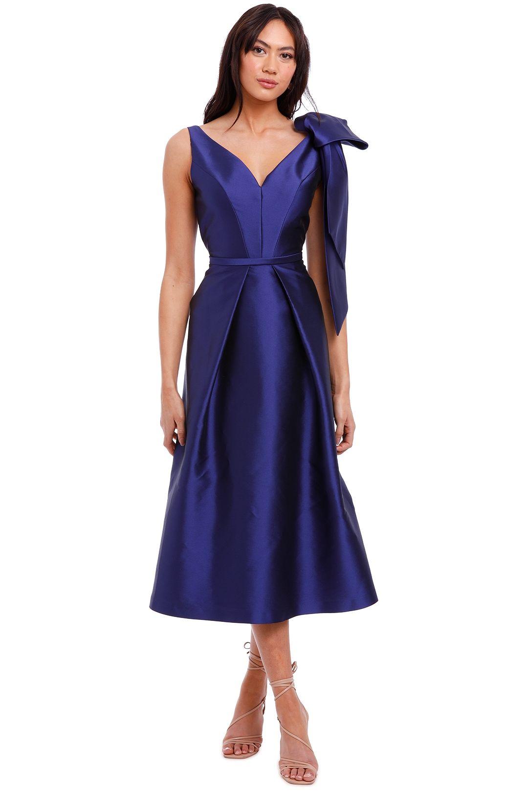 Anthea Crawford Regal Twill Bow Dress