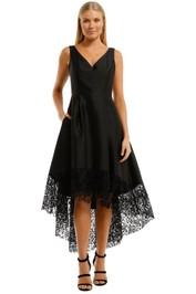 Anthea Crawford Satin Hi Lo Dress Black Lace