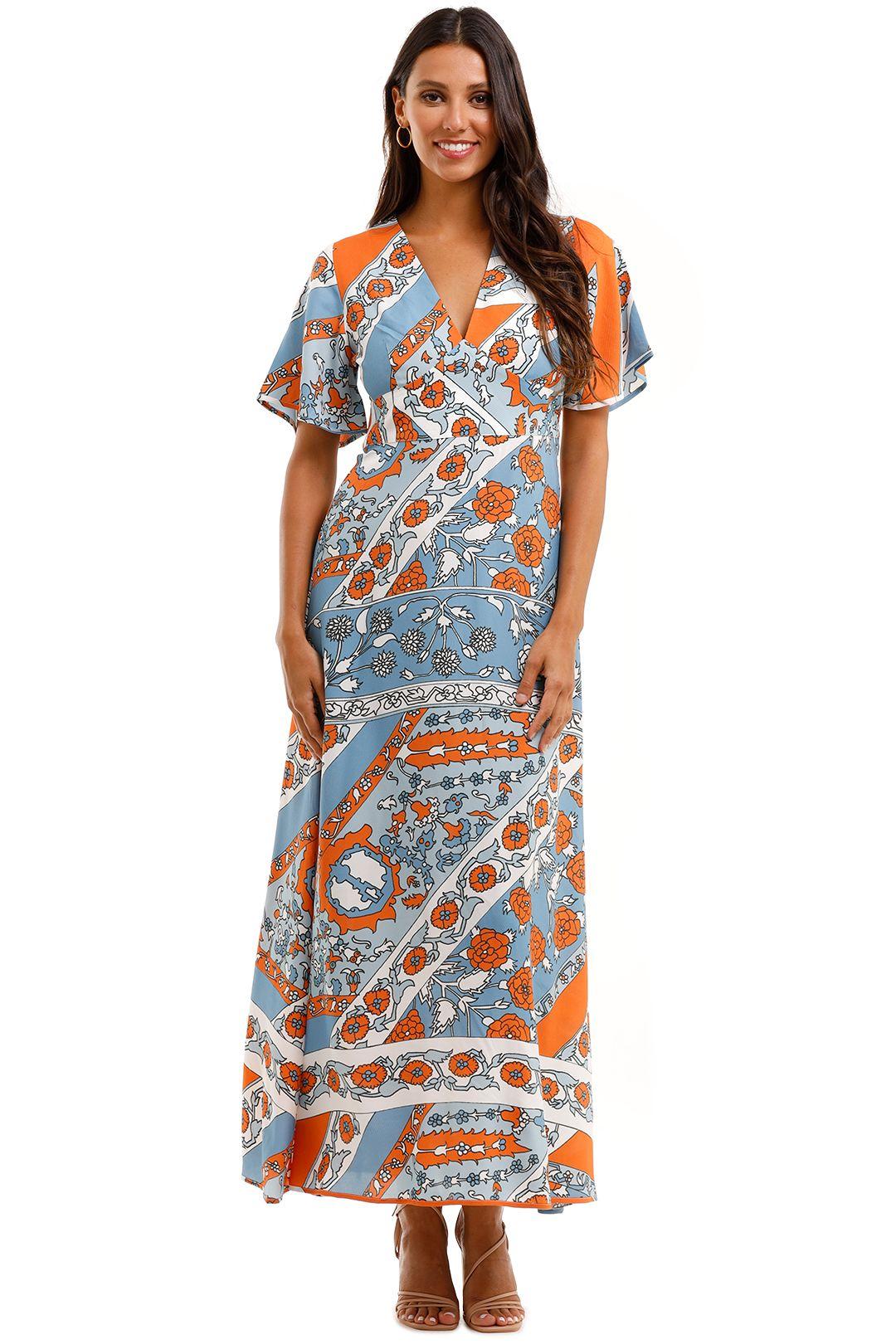 Antik Batik Leandra Floral Print Jacquard Maxi Dress