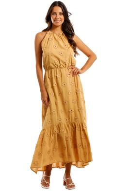 Apartment Clothing Daisy Tie Neck Maxi Dress