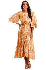 Apartment Clothing Palm Off Shoulder Dress
