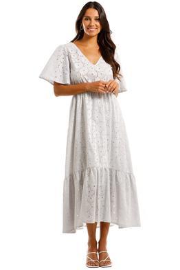 Apartment Clothing Stripe Daisy Flutter Midi Dress