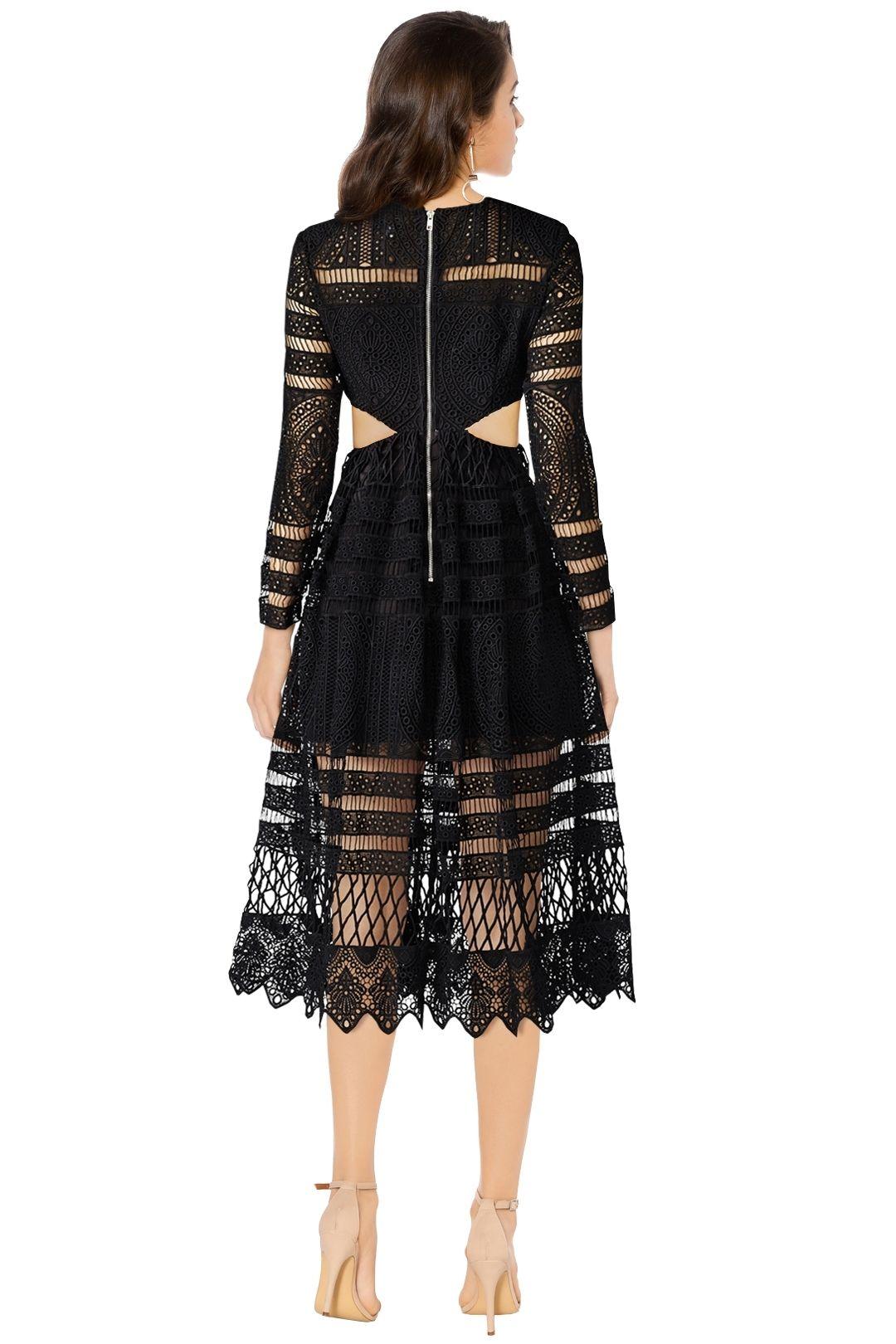 Asilio - A Cut Above Love Dress - Black - Back