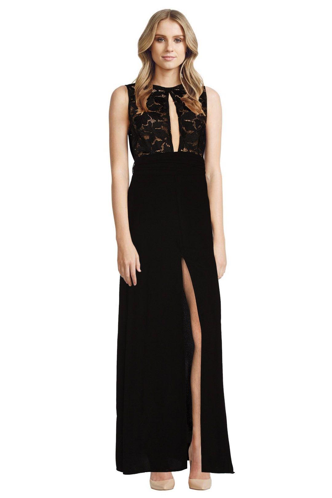 Assali - Poinsetia Dress - Black - Front
