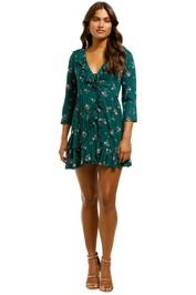 Auguste - Desert Dandelion Grace Mini Dress - Emerald - Front