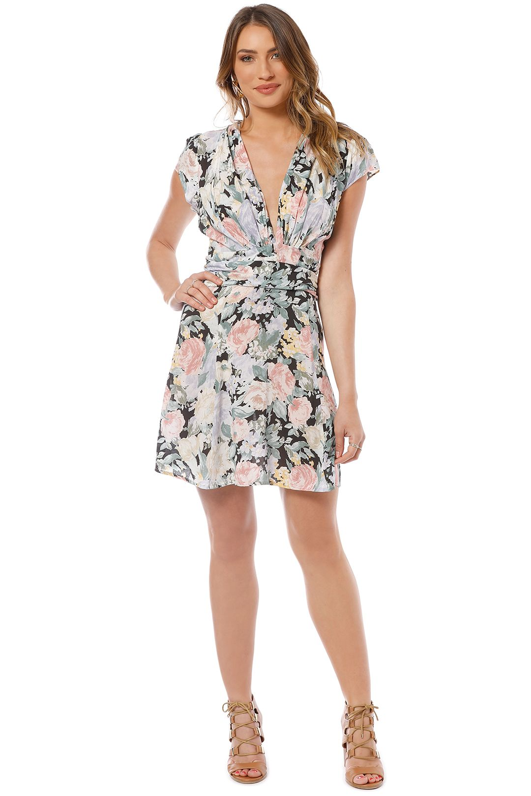 Auguste - Gardenia Goldie Mini Dress - Floral - Front