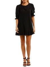 Auguste Lila Mini Dress Black
