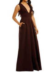 Aurelio-Costarella-Sandrine-Gown-Burgundy-Side