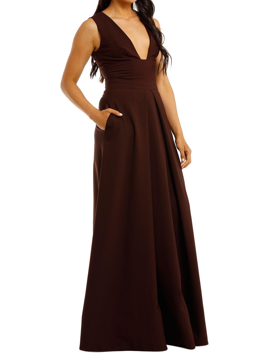 Aurelio-Costarella-Sandrine-Gown-Burgundy-Side