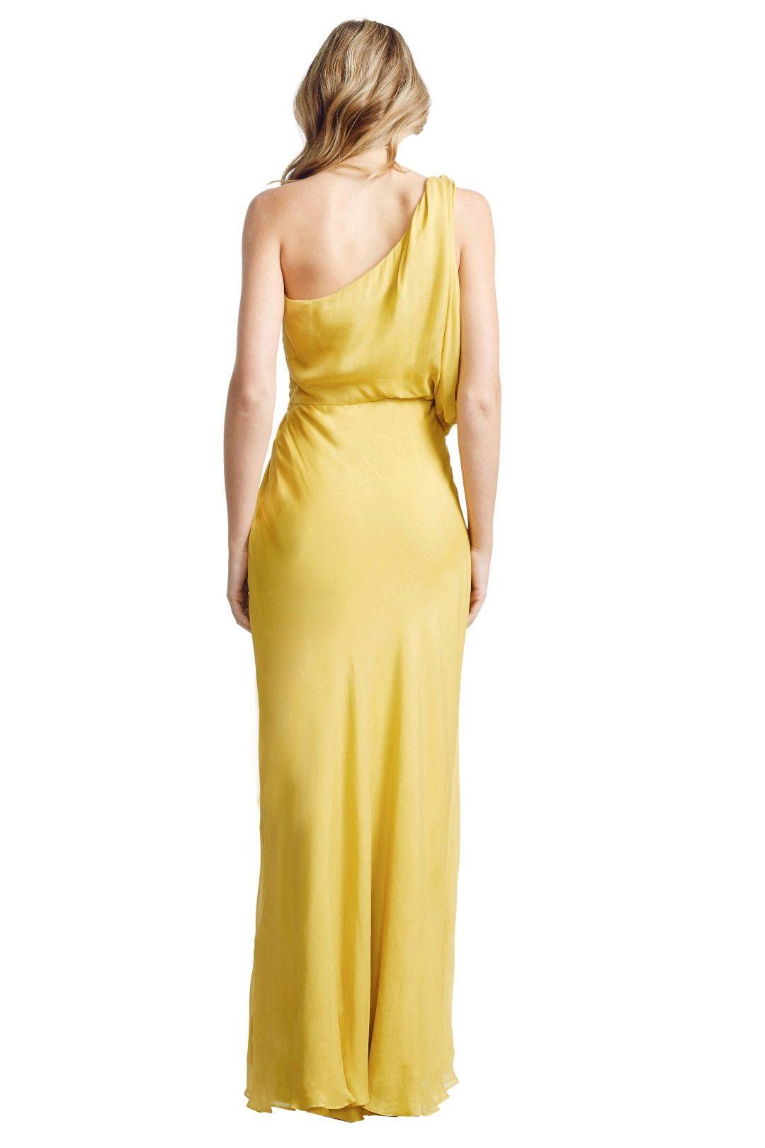 Aurelio Costarella - Athene Gown - Yellow - Back