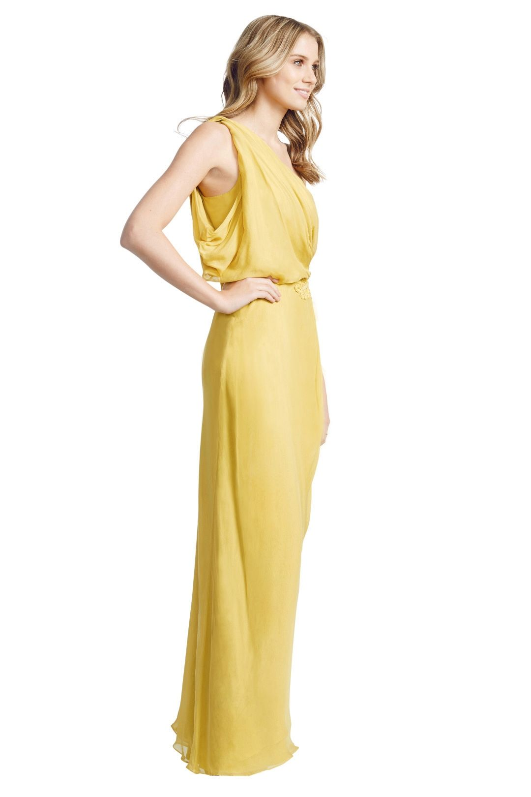 Aurelio Costarella - Athene Gown - Yellow - Side