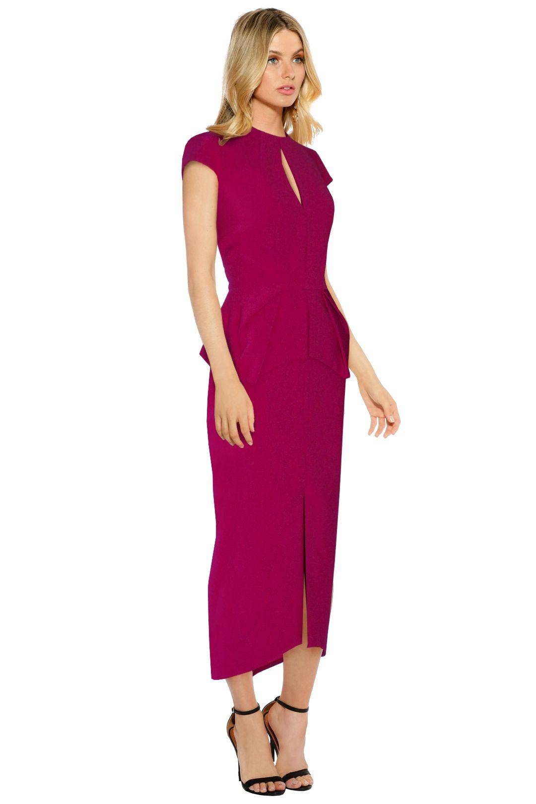 Aurelio Costarella - Cubiste Dress - Berry - Side