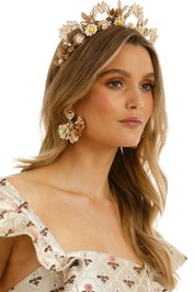 Eve Til Dawn - Daisy Crown - Yellow Gold - Side Model