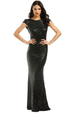 Badgley-Mischka-Black-Sequin-Cowl-Back-Gown-Front