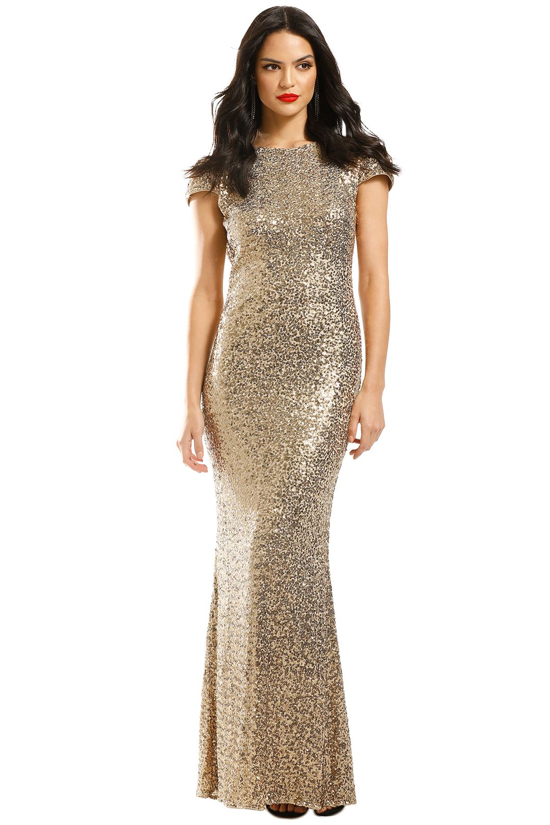 Badgley-Mischka-Gold-Sequin-Cowl-Back-Front