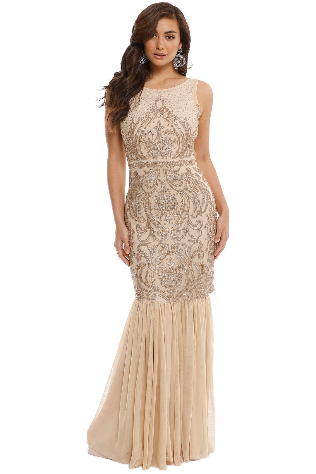 Beaded Gown By Badgley Mischka For Rent Glamcorner