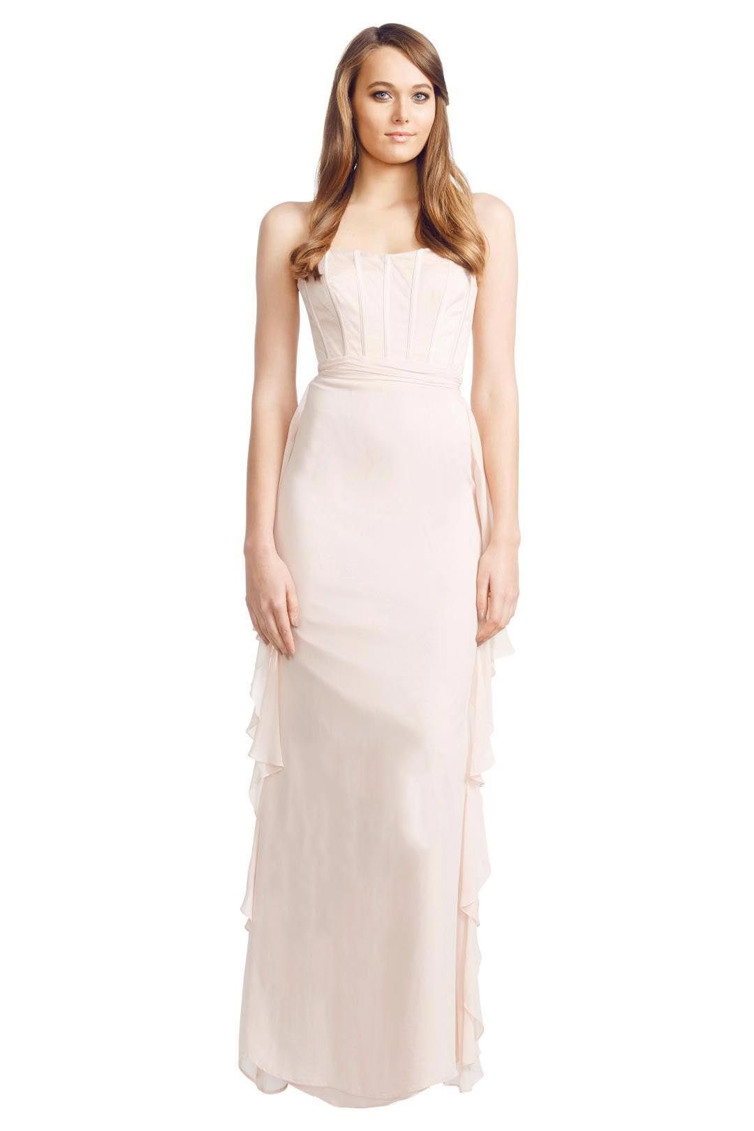 Badgley Mischka - Corset Dress - Blush Pink - Front