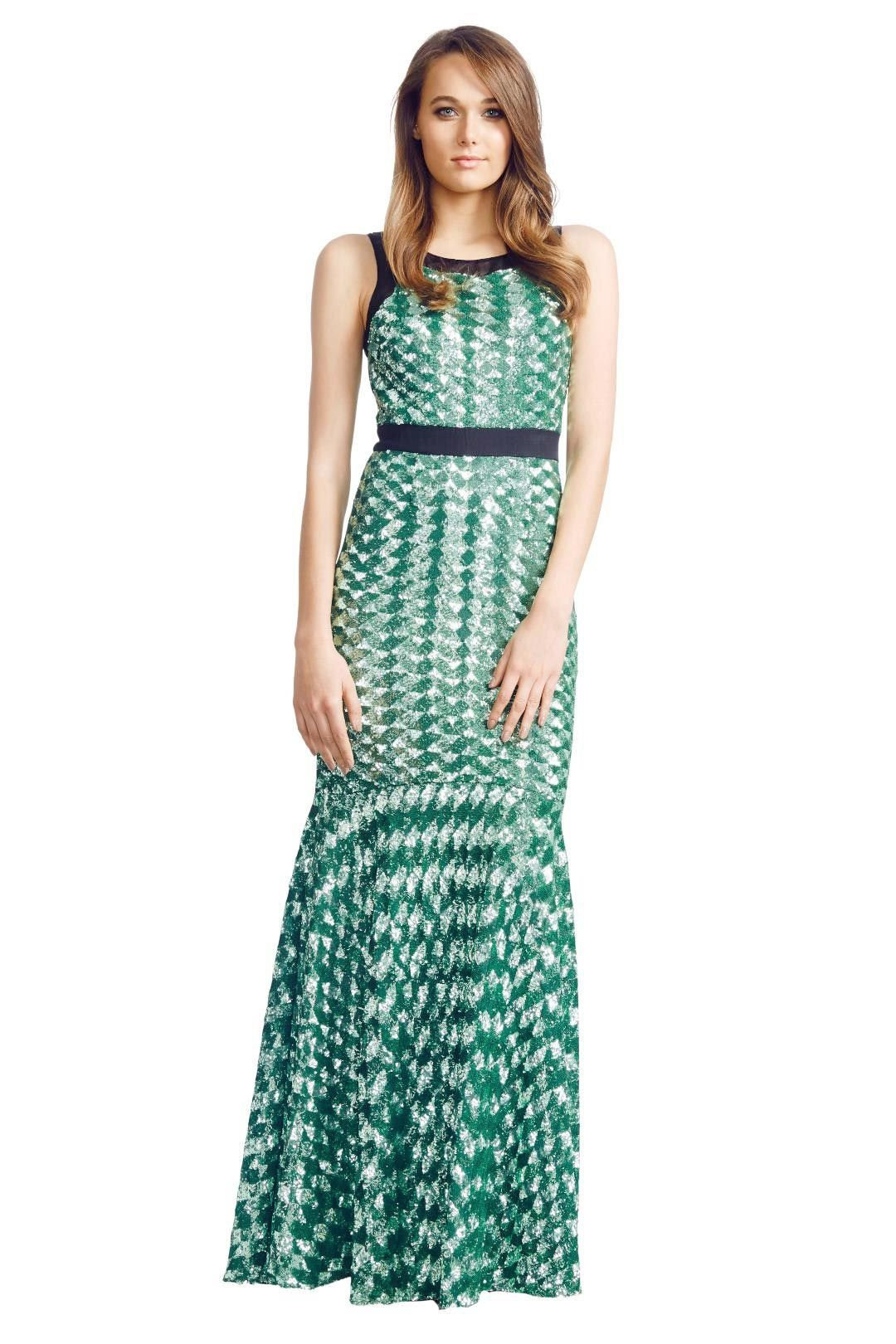 Badgley Mischka - Geometric Sequin - Green - Front