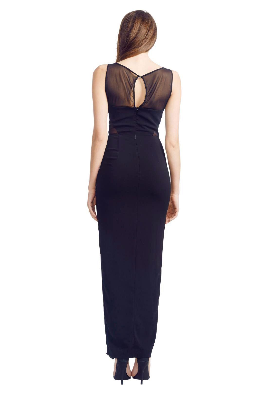 Badgley Mischka - Panel Gown - Black - Back