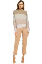 Bande-Studio-Vienna-Stripe-Funnel-Neck-Blush-Front