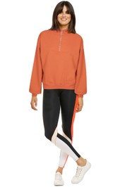 Bande-Studio-Zip-Sweat-Burnt-Orange-Front