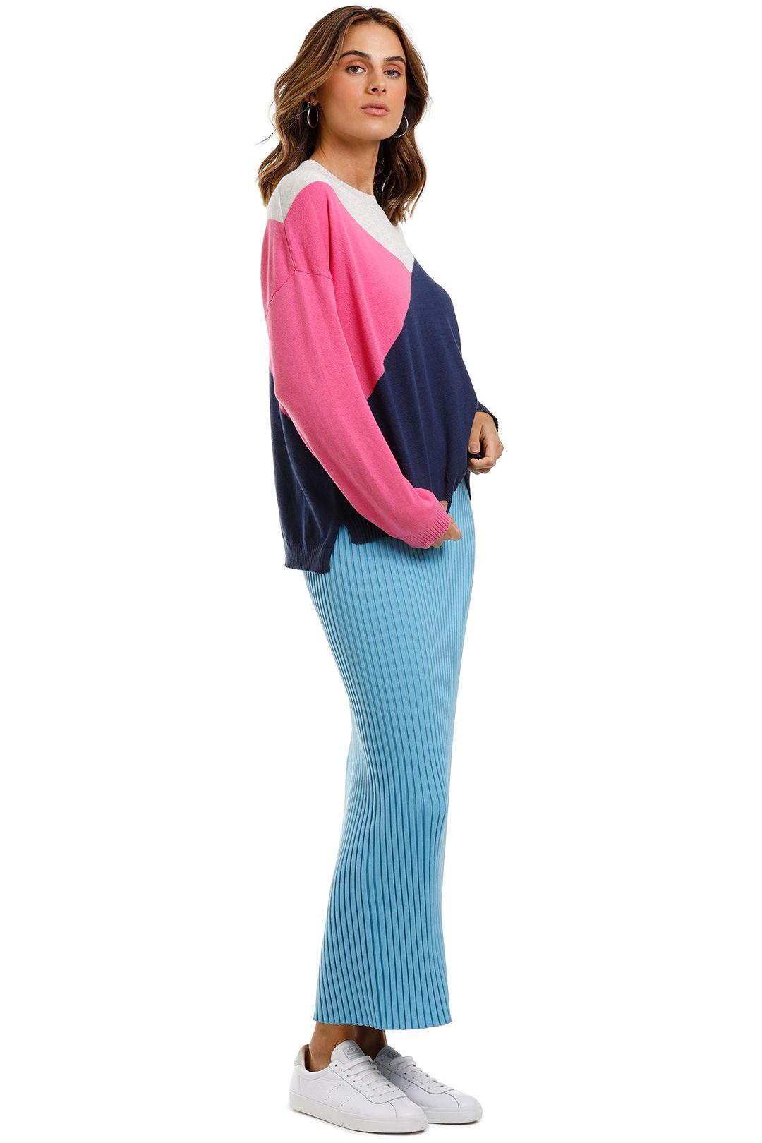 Bande Studio Colour Block Geo Knit Pink