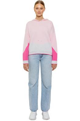 Bande Studio Holly Logo Knit Hoodie Pink