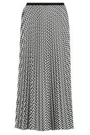 Bande Studio Posy Pleated Satin Skirt Black Check