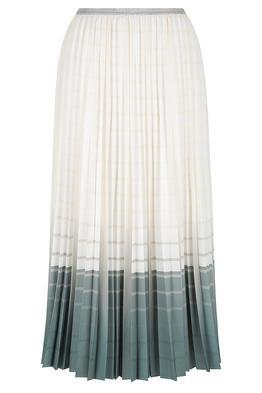 Bande Studio Sofia Pleated Satin Skirt Vanilla Sage