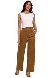 Bassike Brushed Twill Slouch Chino full