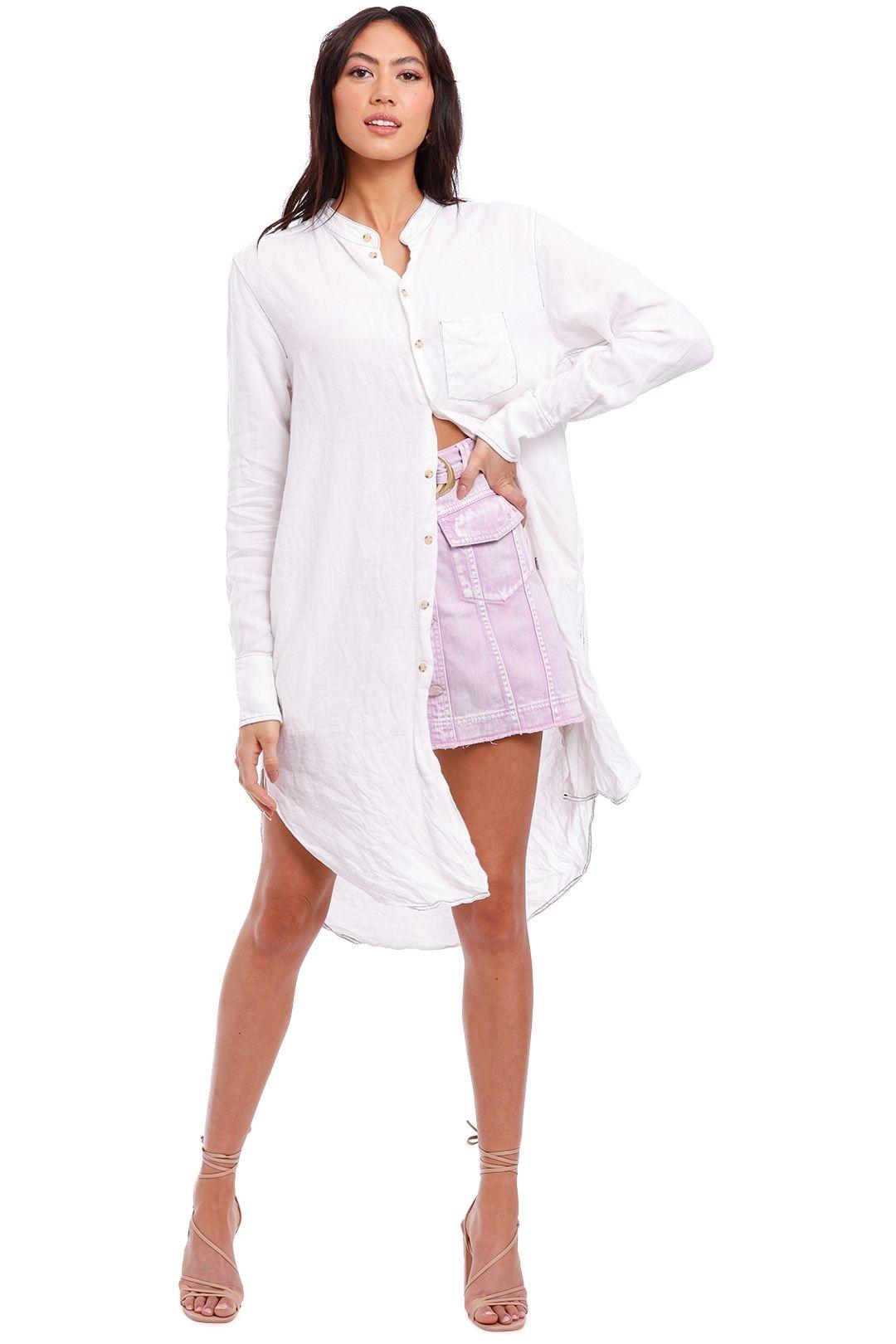 Bassike Classic Linen Shirt Dress