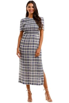 Baum Und Pferdgarten Adamaris Shirred Printed Crepe De Chine Midi Dress