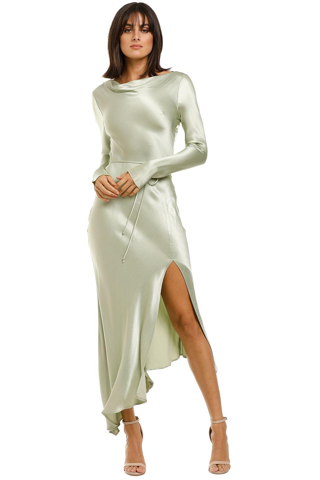 Bec-and-Bridge-Crest-LS-Midi-Dress-Peppermint-Front