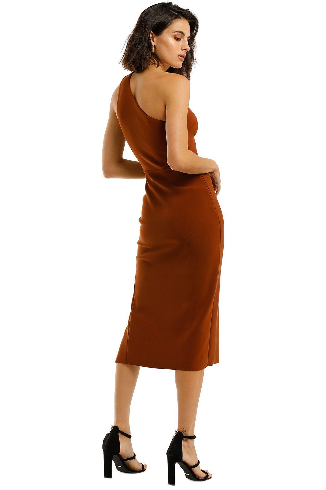 Bec-and-Bridge-Emerald-Avenue-Asymmetric-Midi-Dress-Copper-Back