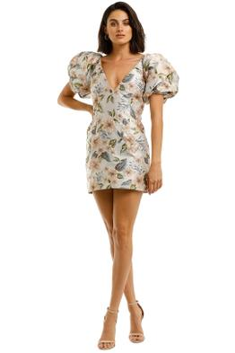 Bec-and-Bridge-Fleurette-Jacquard-V-Dress-Front
