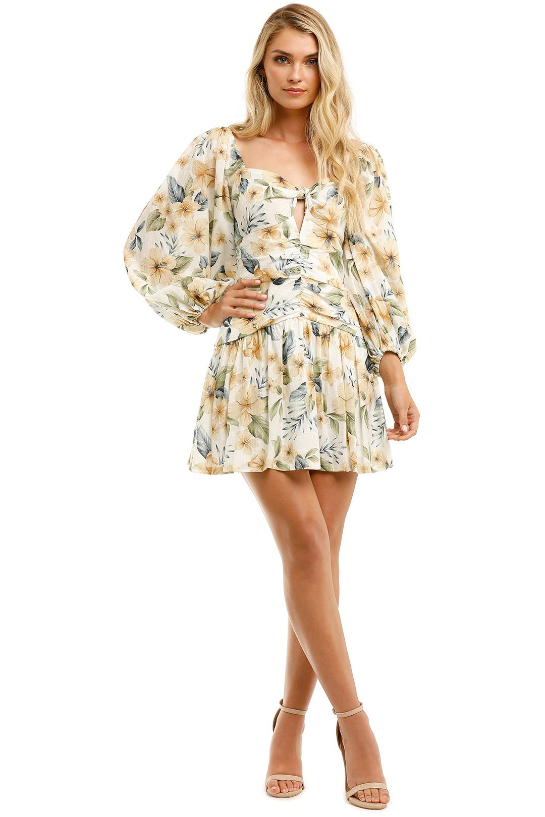 Bec-and-Bridge-Fleurette-Mini-Dress-Floral-Front