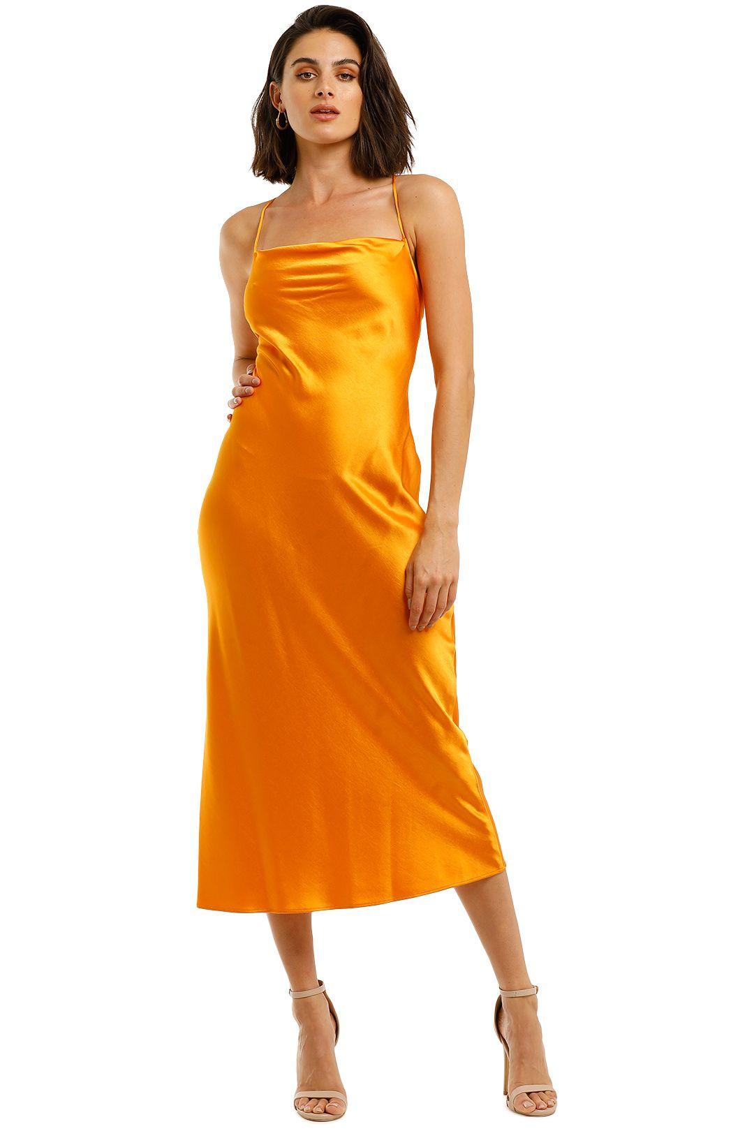 Bec-and-Bridge-Seraphine-Lace-Up-Midi-Dress-Tangerine-Front