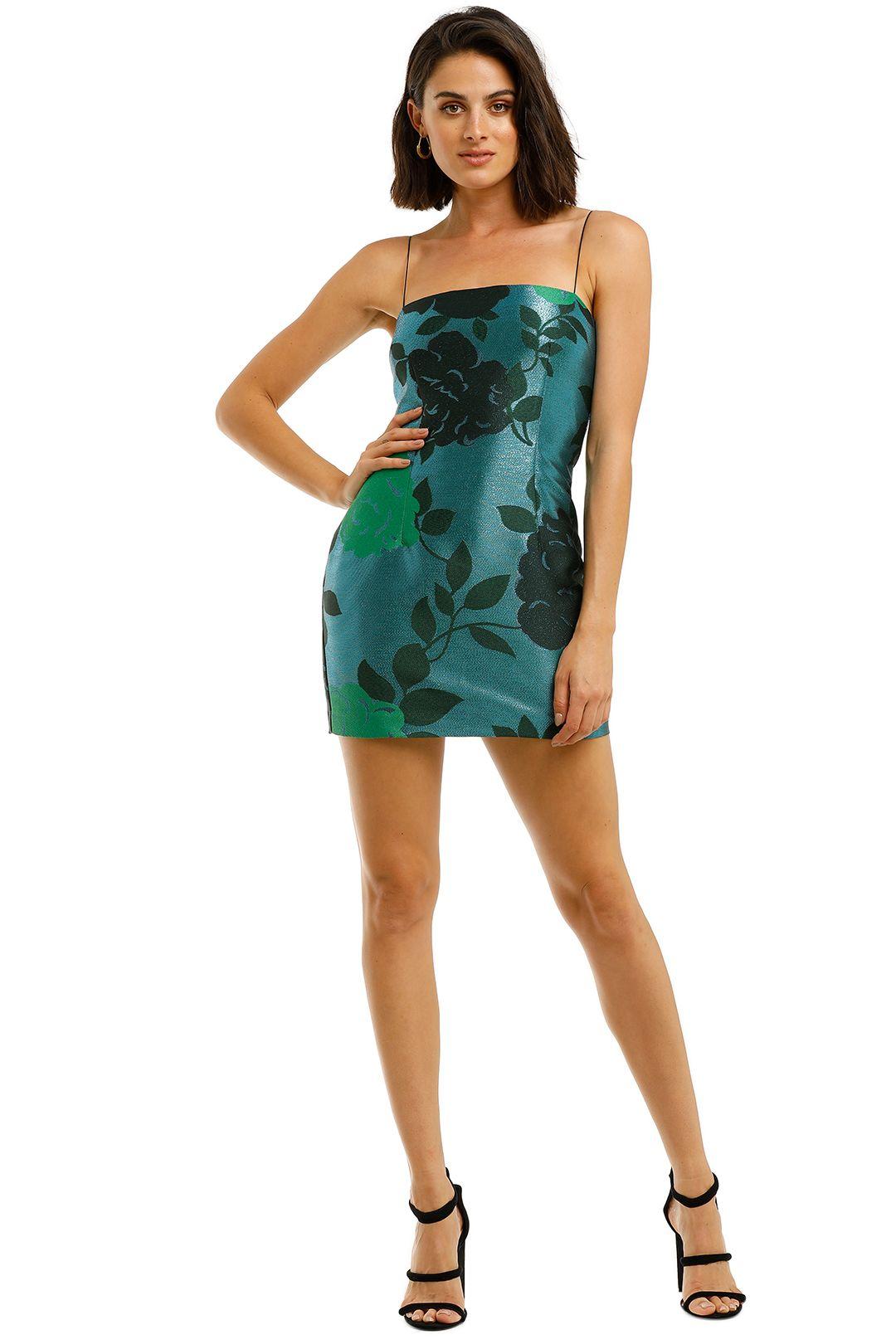 Bec-and-Bridge-Sparkle-Soiree-Mini-Dress-Lurex-Front