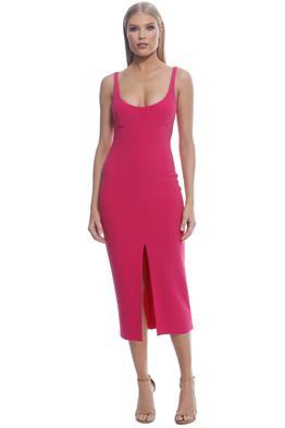 Bec and Bridge - Amelie Cup Midi Dress - Magenta - Front