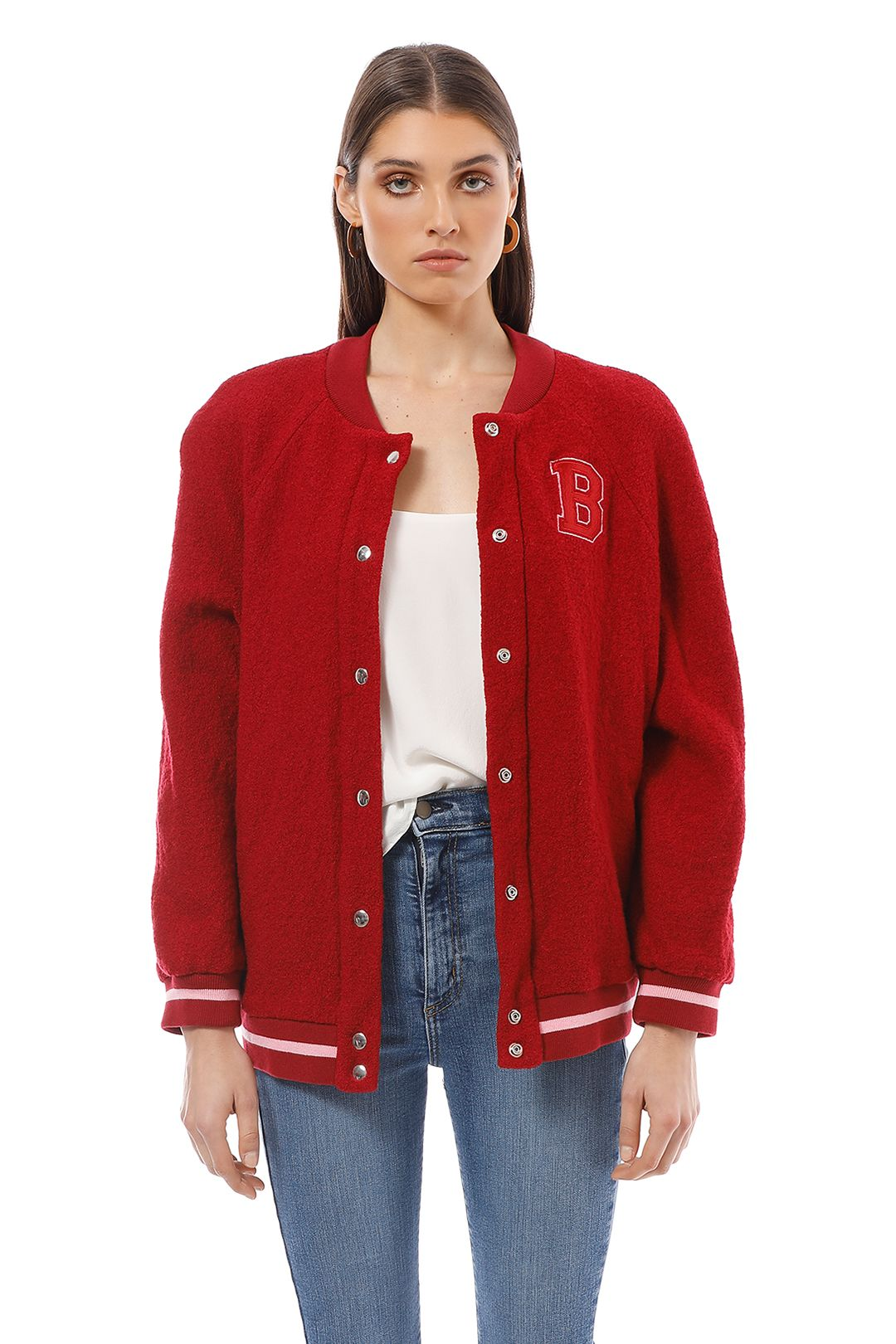 Bec and Bridge - Be Mine Bomber - Red - Front Detail