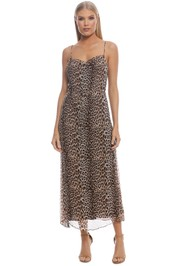 Bec and Bridge - Kitty Kat Slip Dress - Animal Print - Front