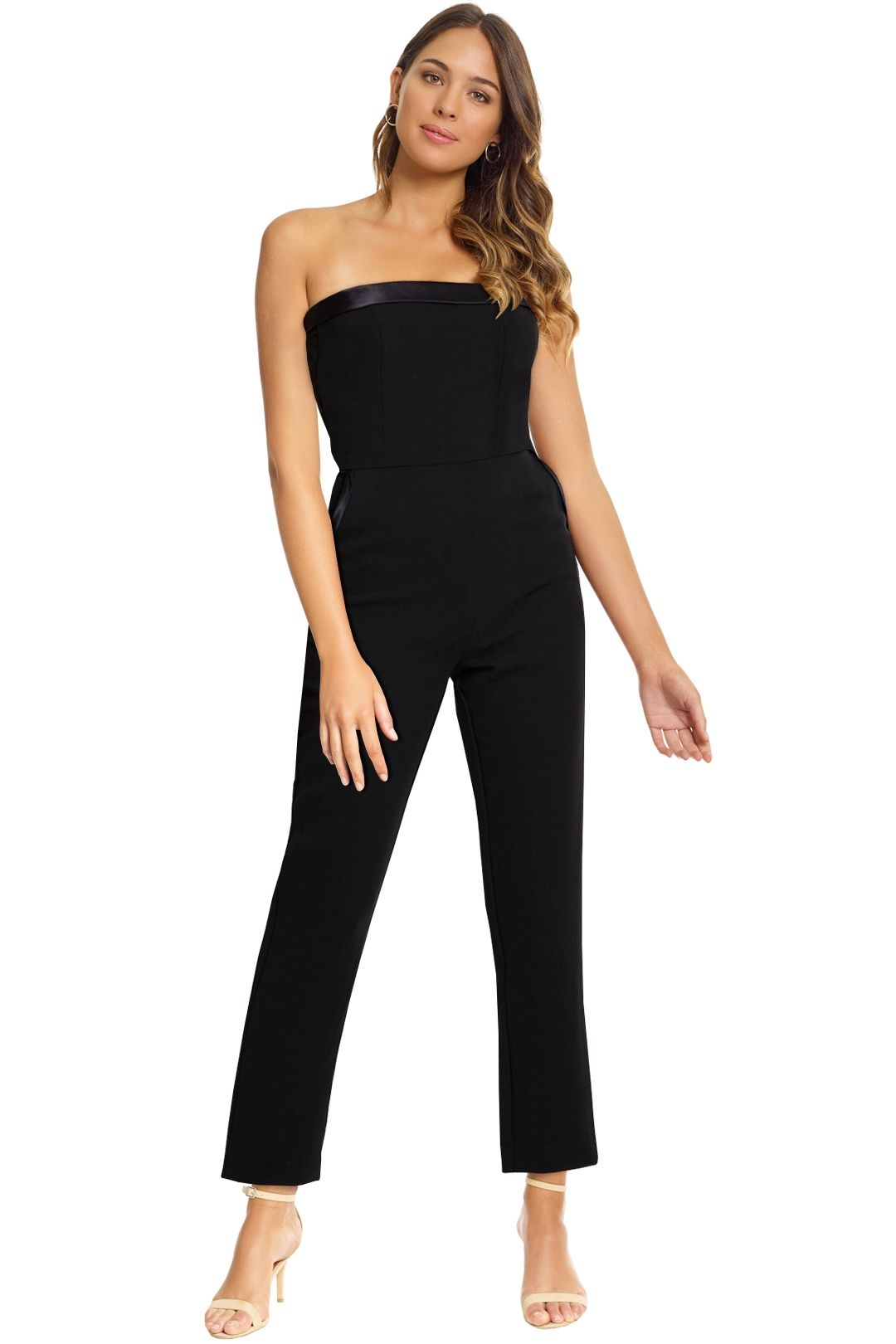 Bec and Bridge - Like A Boss Jumpsuit - Black - Front