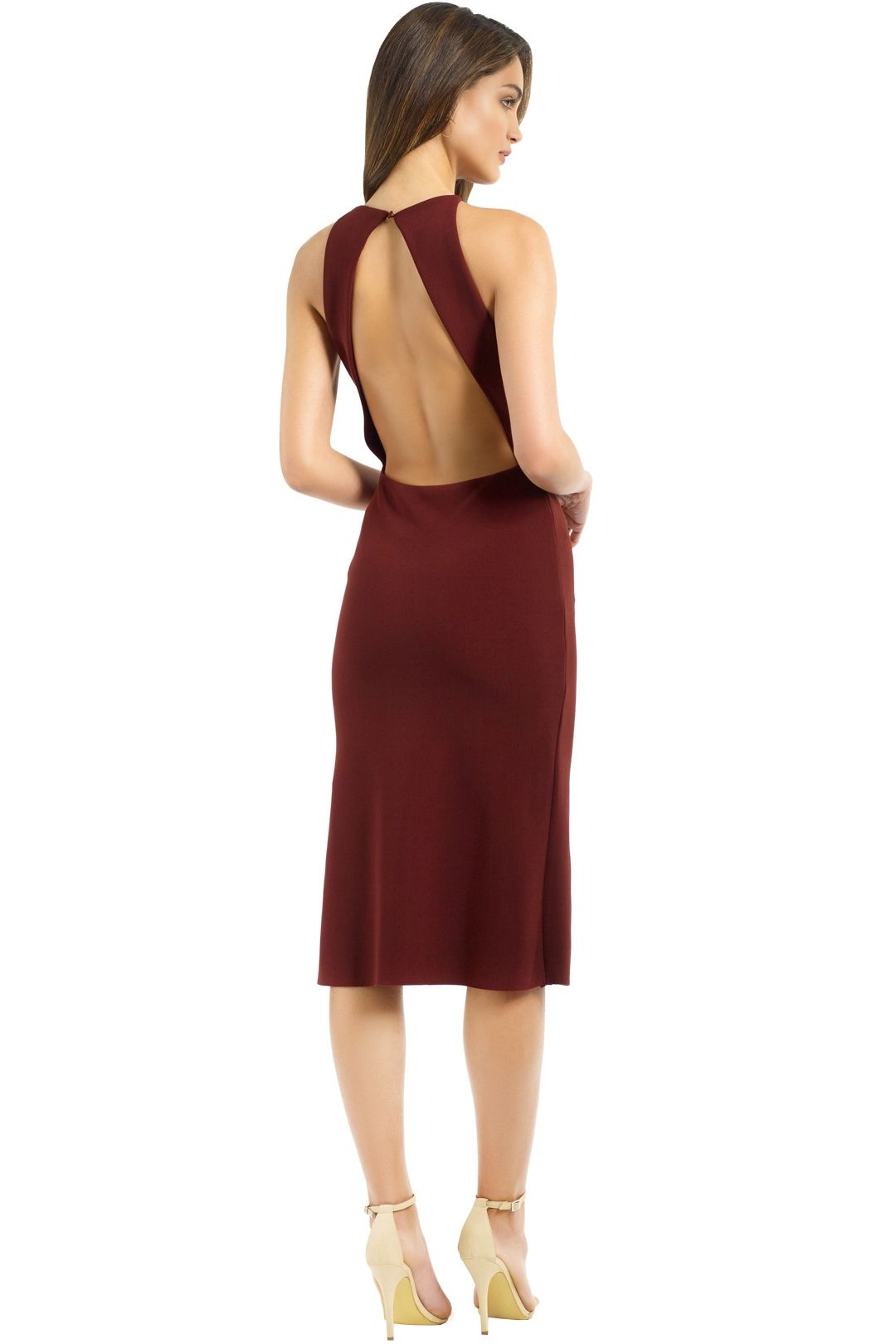 Bec and Bridge - Love Ruler Dress - Deep Rouge - Back